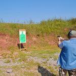 KAHR CW45 range shooting