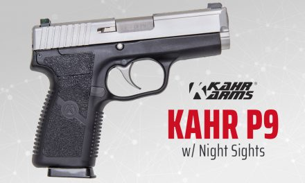 KAHR P9 Good for Low Light Combat