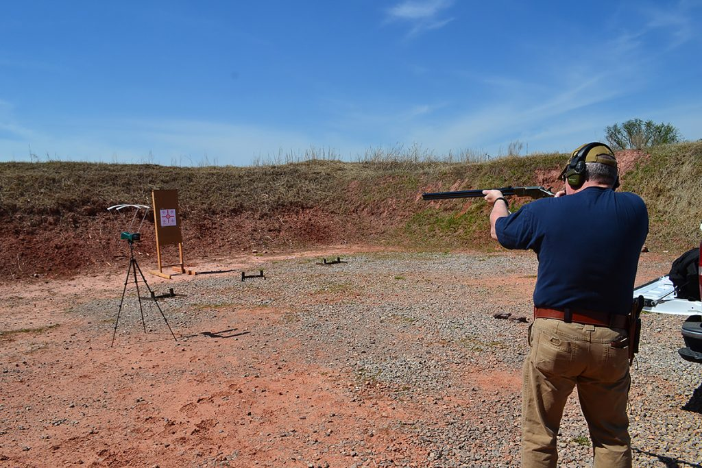 shooting Henry 1860 rifle