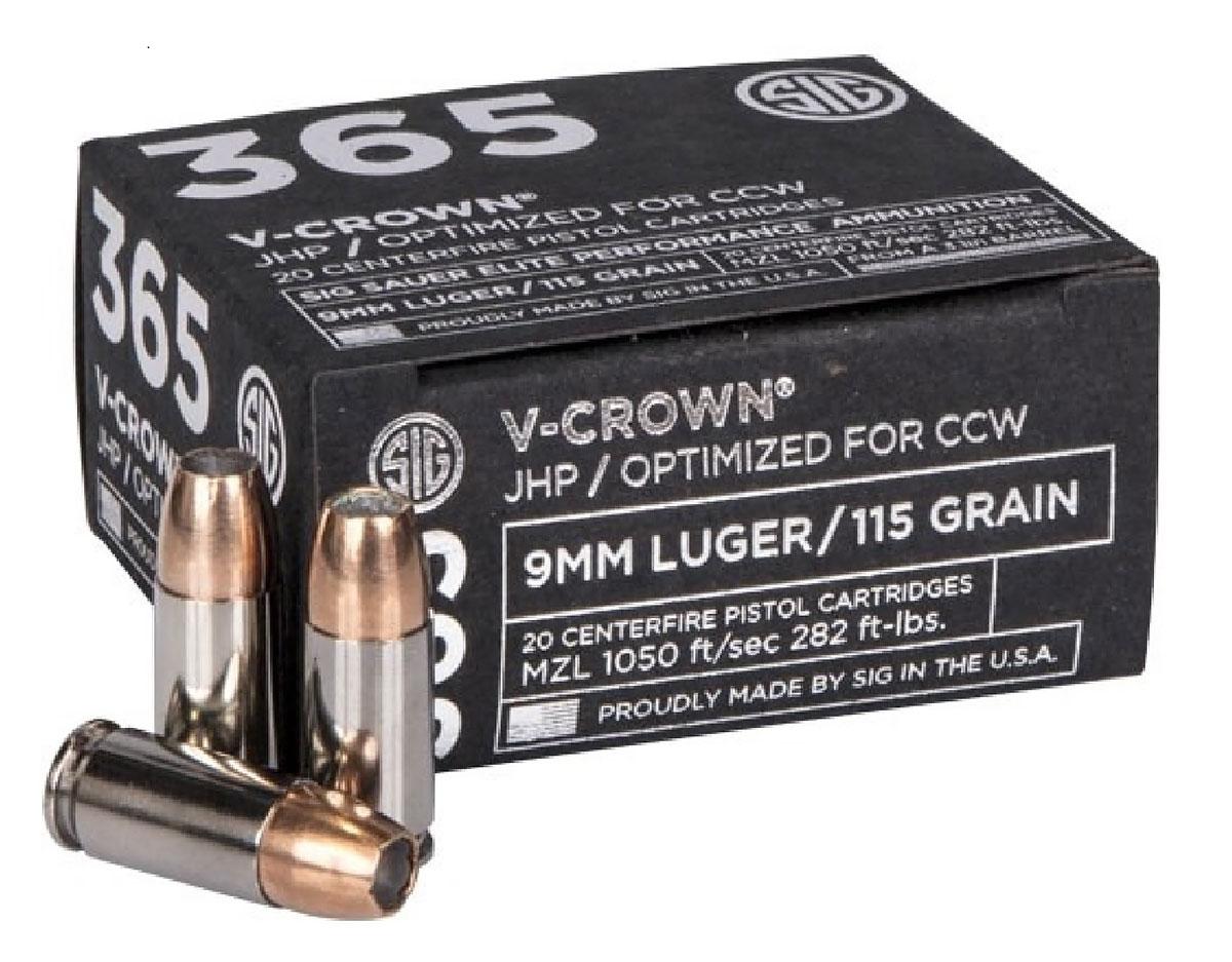 Sig 365 9mm JHP 115gr
