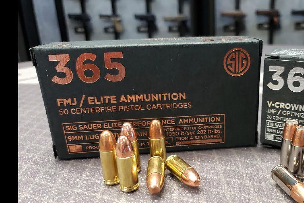 Sig 365 9mm ammo Ball