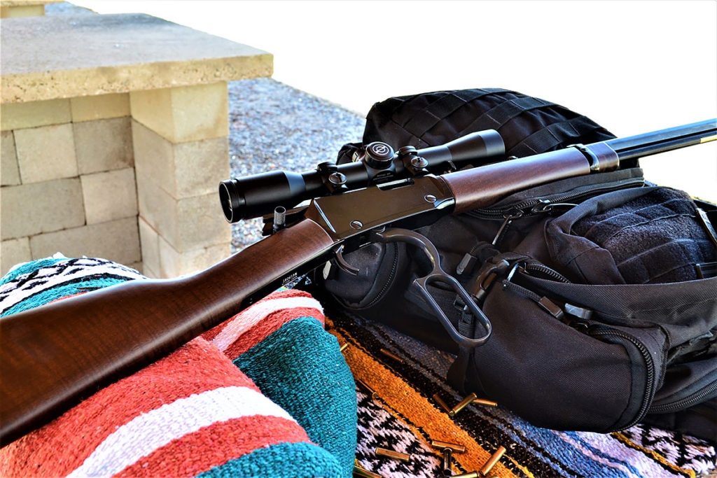 Henry lever action octagon frontier 22 magnum with scope