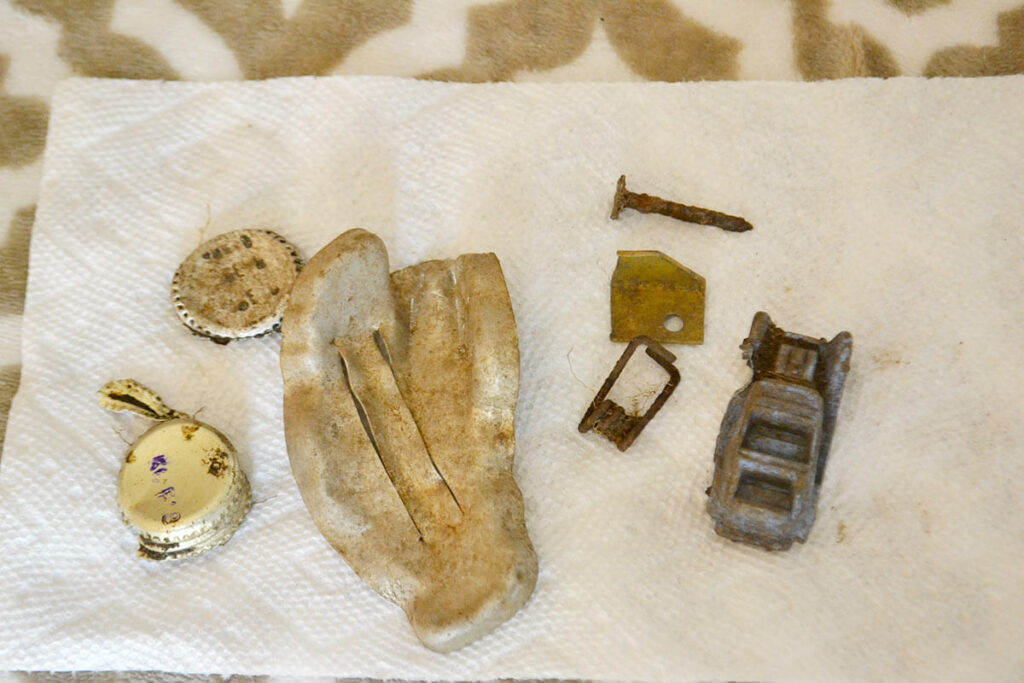 Treasure found with metal detector